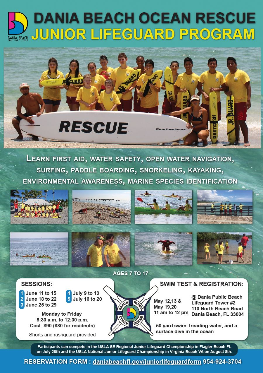 Dania Beach Junior Lifeguard Ocean Rescue Summer Camp 2018