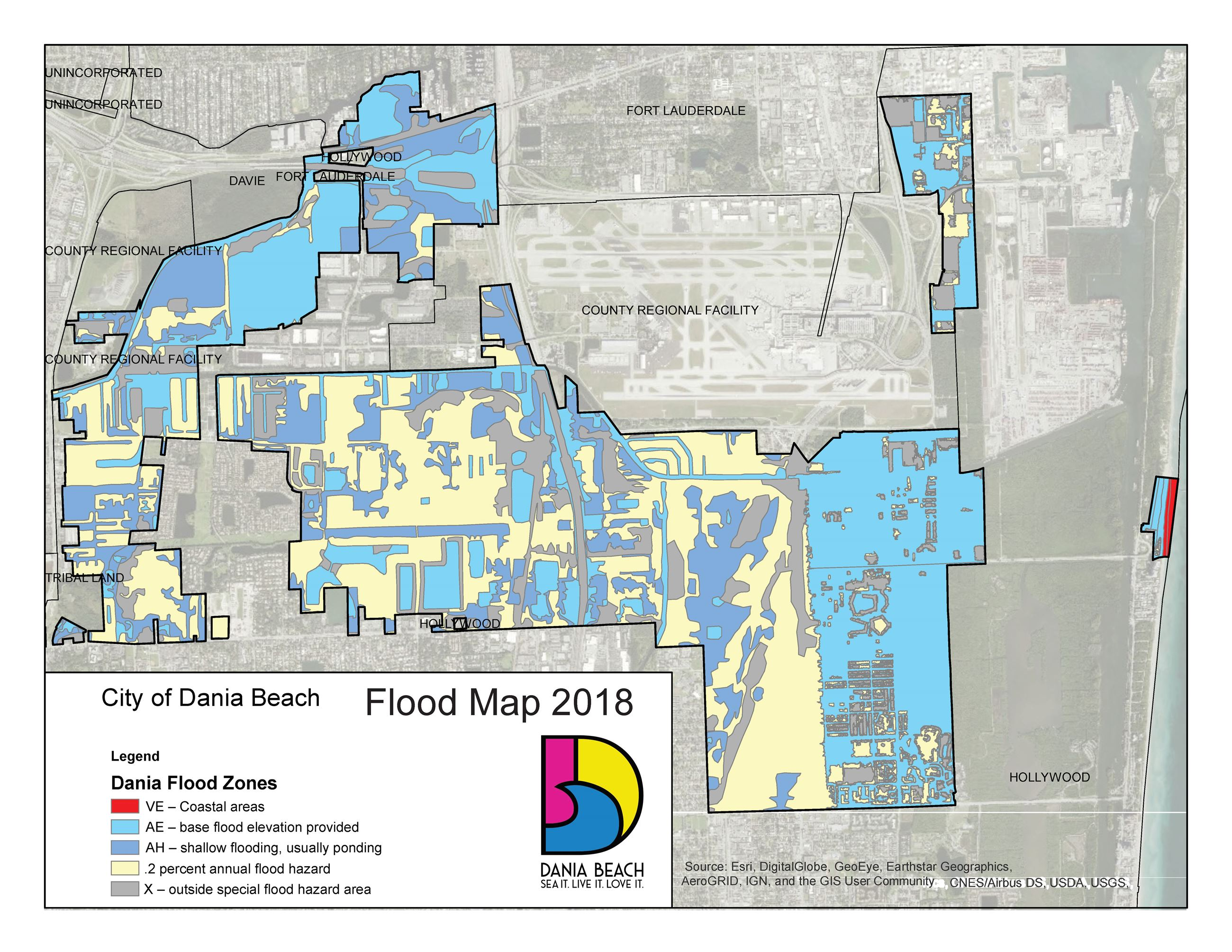 Dania Beach Flood Zones Map