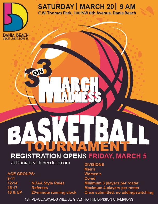 March Madness Basketball Tournament Dania Beach