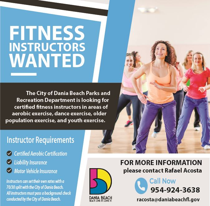 Fitness Instructors Wanted in Dania Beach