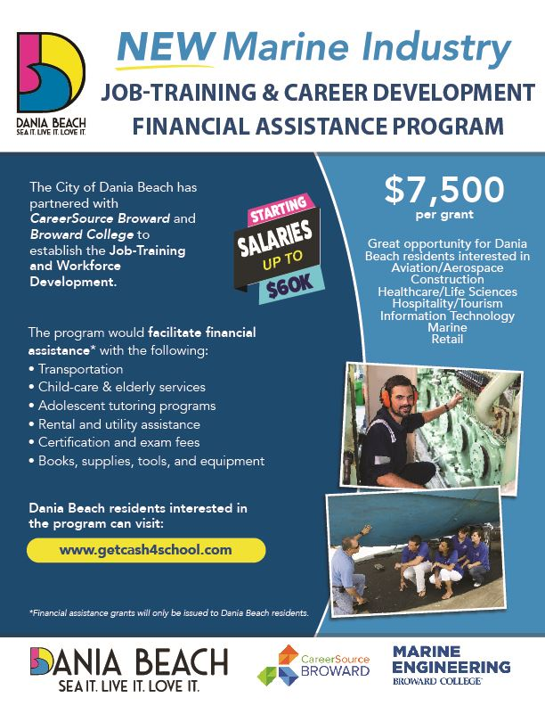Career Program Flyer  - Dania Beach Job-Training, Workforce Development and Certification Financial