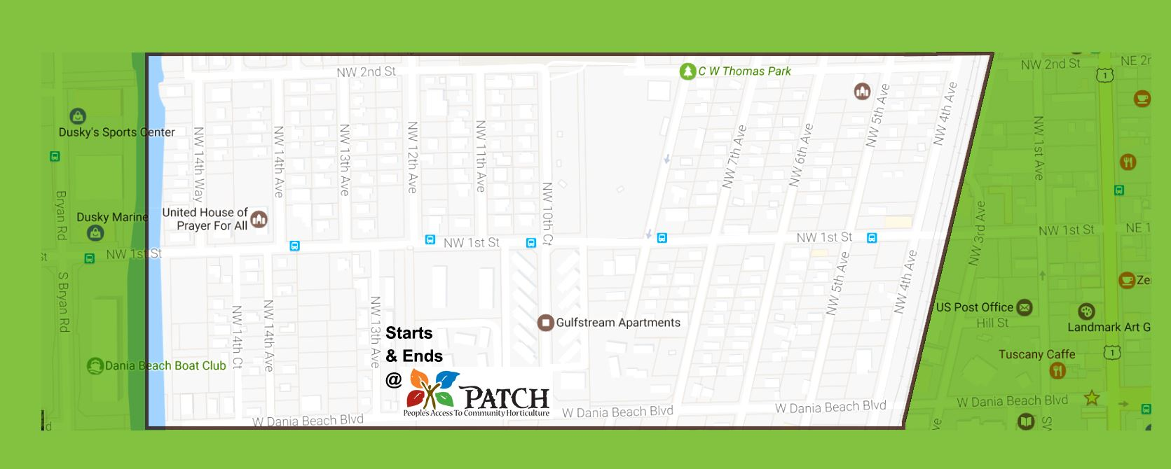 Oasis Community Cleanup Location Map Dania Beach