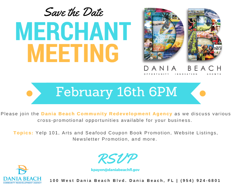 Dania Beach CRA Merchant Meeting