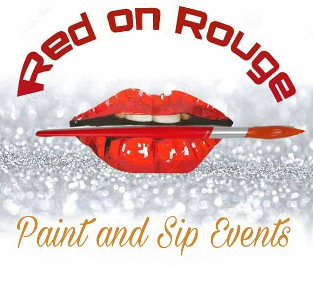 Red on Rouge Paint and Sip Parties