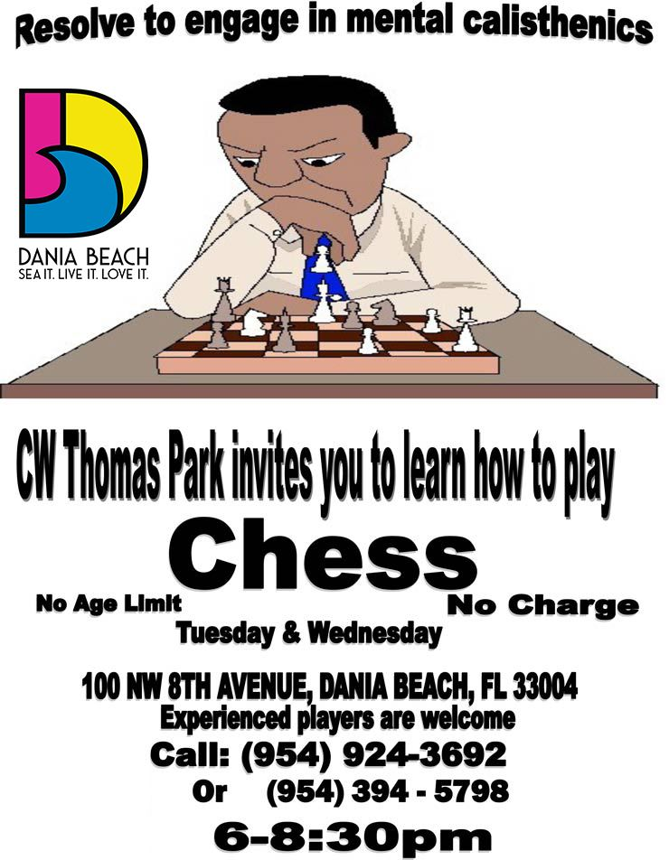 Learn to Play Chess at CW Thomas Park Dania Beach