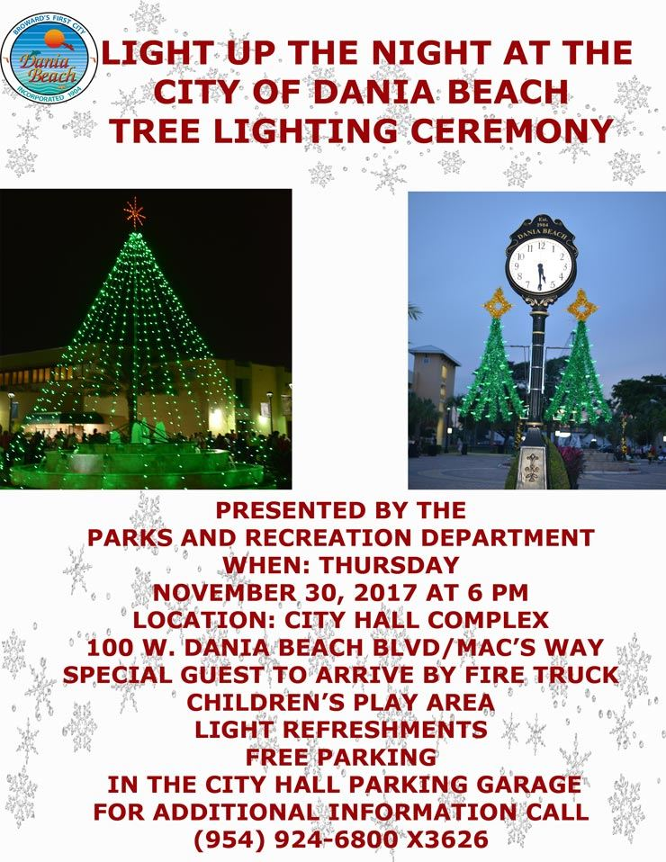 Nov 30 Tree Lighting Ceremony