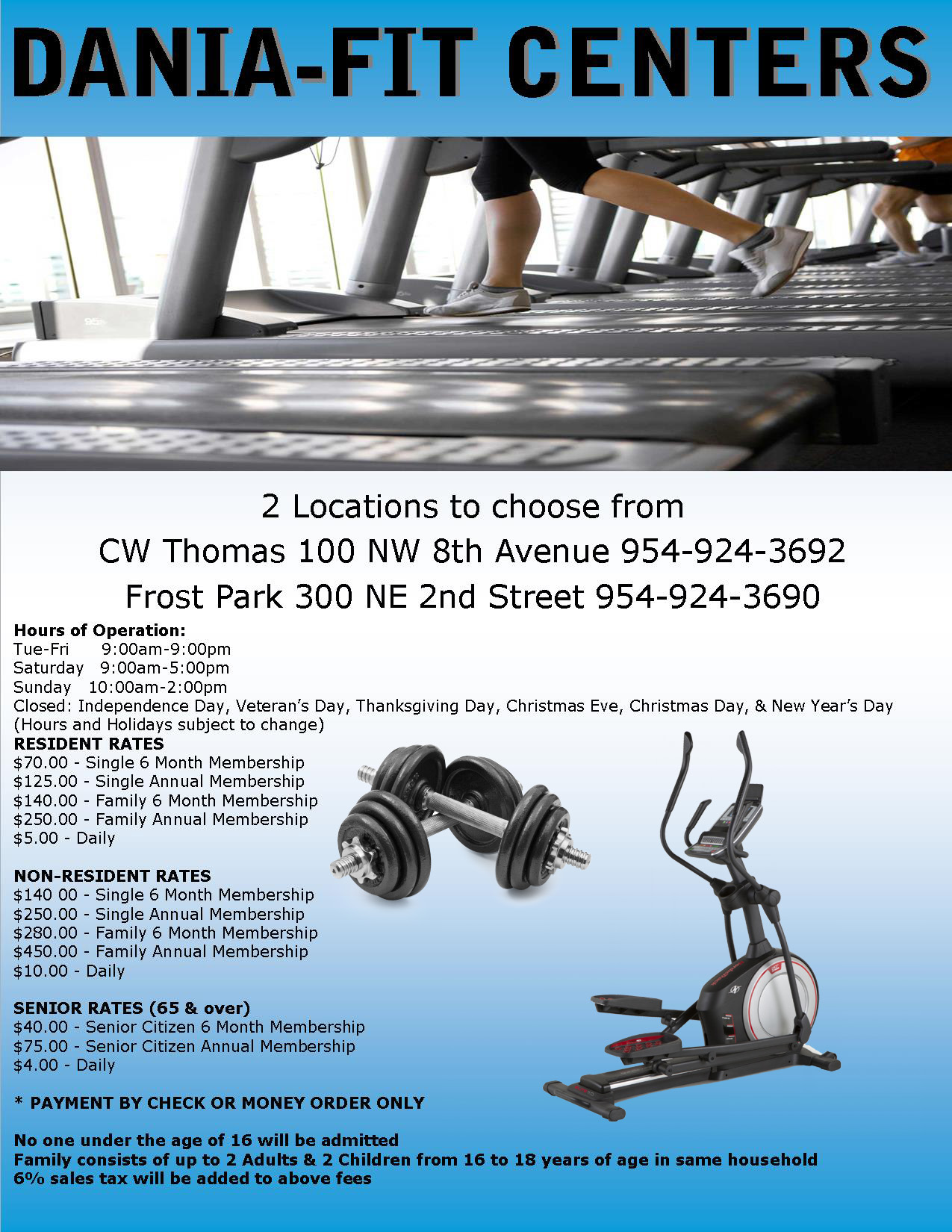 Dania FIT Centers at C.W. Thomas and Frost Park