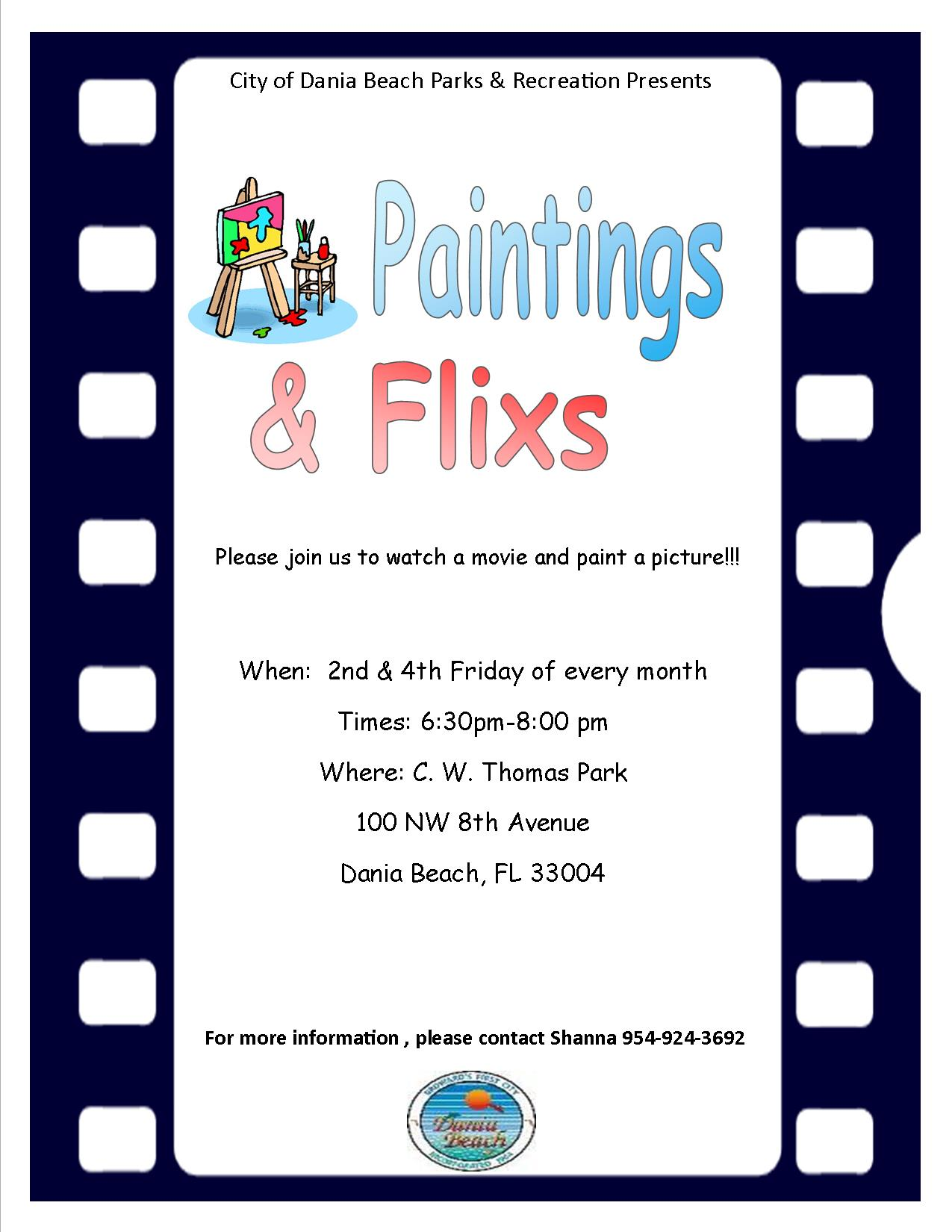 Painting Night at Dania Beach CW Thomas Park